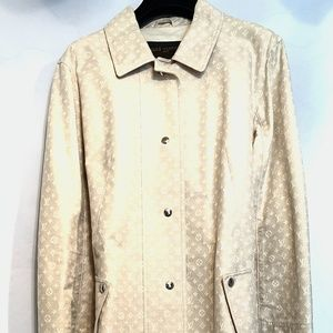 NEW Cream Tan Louis Vuitton Trench Raincoat size44